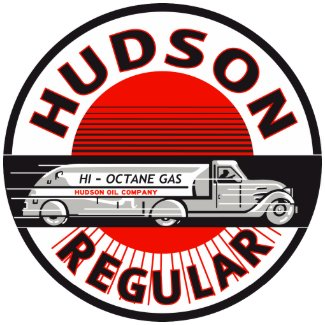 Vintage Hudson Regular gasoline sign print