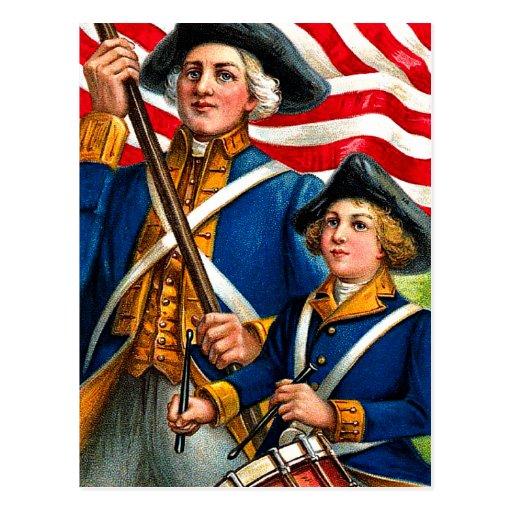 Vintage July Fourth American Revolution Postcard | Zazzle
