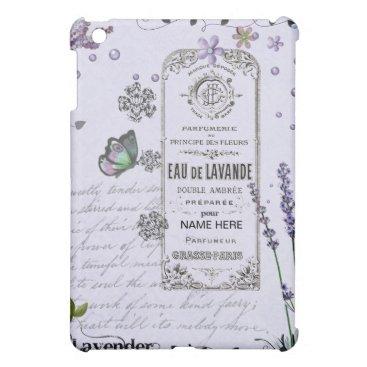 Vintage Lavender Collage iPad Mini Cover