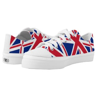 vintage london fashion british flag union jack printed shoes