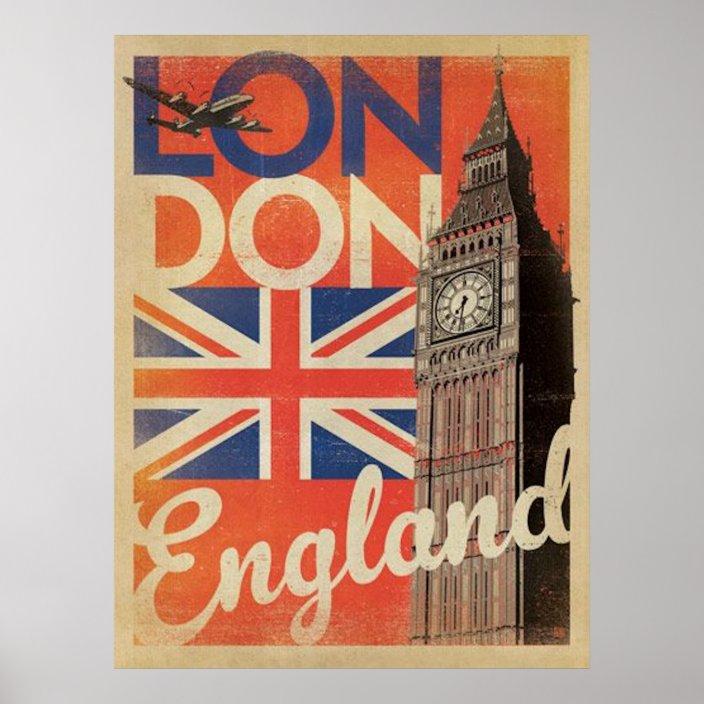 vintage london travel poster zazzle com