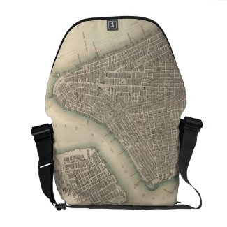 Vintage Map of Lower New York City (1840) Messenger Bag