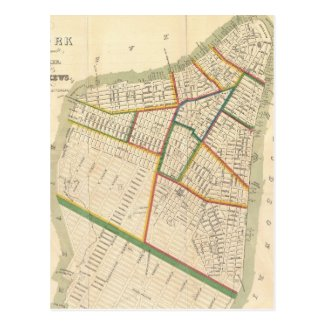 Vintage Map of New York City (1831) Post Cards
