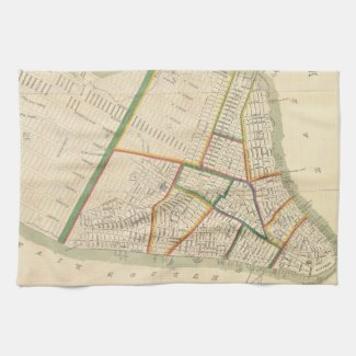 Vintage Map of New York City (1831) Towels