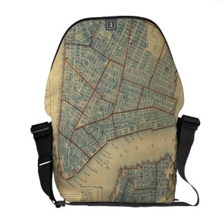 Vintage Map of New York City (1846) Courier Bags