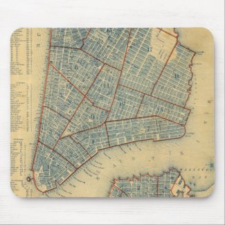Vintage Map of New York City (1846) Mouse Pad