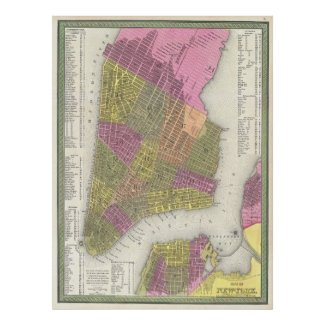 Vintage Map of New York City (1848) Posters