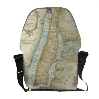 Vintage Map of New York City (1869) Commuter Bag