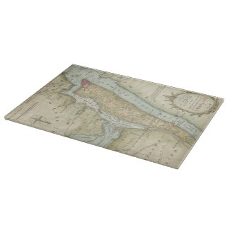 Vintage Map of New York City (1869) Cutting Board