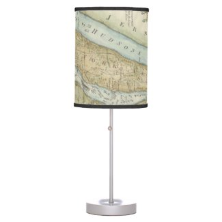 Vintage Map of New York City (1869) Desk Lamp