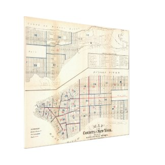 Vintage Map of New York City (1871) Canvas Print
