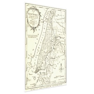 Vintage Map of New York City (1893) Canvas Print