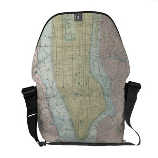 Vintage Map of New York City (1901) Courier Bag