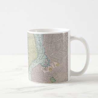 Vintage Map of New York City (1901) Mugs