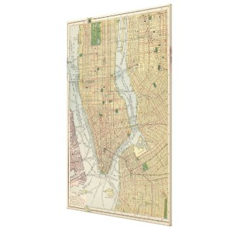 Vintage Map of New York City (1910) Canvas Print