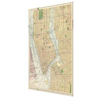 Vintage Map of New York City (1910) Canvas Print