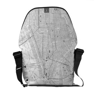 Vintage Map of New York City (1911) Courier Bag