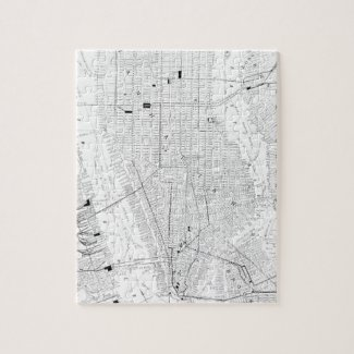 Vintage Map of New York City (1911) Puzzle