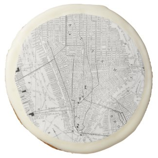 Vintage Map of New York City (1911) Sugar Cookie