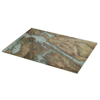 Vintage Map of New York City Harbor (1864) Cutting Boards
