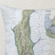HD Decor Images » Old San Diego Map Gifts on Zazzle Vintage Map of San Diego   Coronado  1853  Throw Pillow