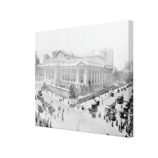 Vintage New York Public Library Photograph (1914) Canvas Print