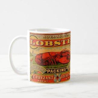Vintage Nulli Secundus Lobster Label Mug