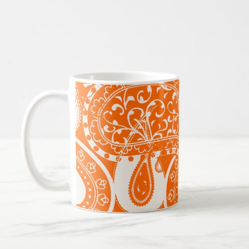 Vintage Paisley swirl pattern mugs zazzle_mug