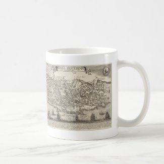 Vintage Pictorial Map of New York City (1672) Mug