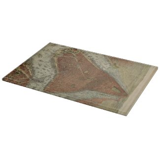 Vintage Pictorial Map of New York City (1879) 2 Cutting Boards