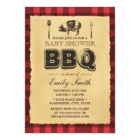 Vintage Pig Roast Baby Shower BBQ Card