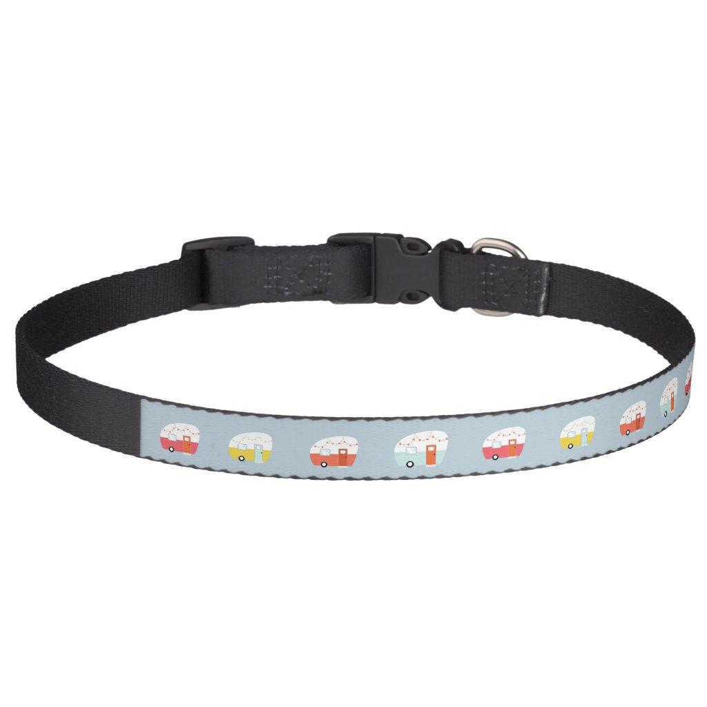 Vintage Retro Camper Dog Pet Collar