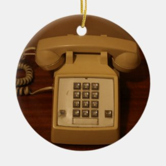 Vintage Retro Telephone Christmas Tree Ornament