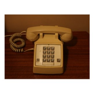 Vintage Retro Telephone Postcard