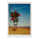 Vintage Route 66 America roadside travel Poster