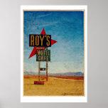 Vintage Route 66 America roadside travel Poster