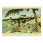 Vintage Seven Mile Bridge Florida Postcard