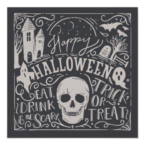 Vintage Spooktacular Halloween   Party Invitation