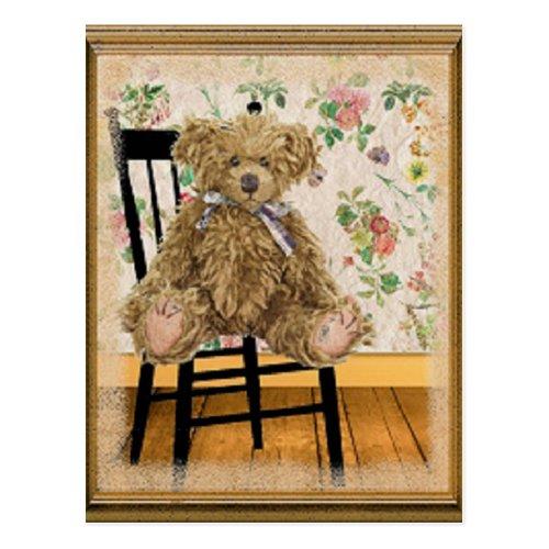 Vintage Teddy Postcard