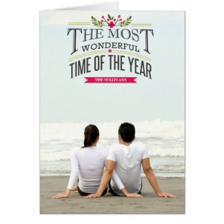Vintage The Most Wonderful Time of The Year Card Template