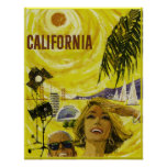 Vintage Travel poster, California Poster