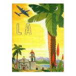 Vintage Travel Poster, Los Angeles, California Postcard