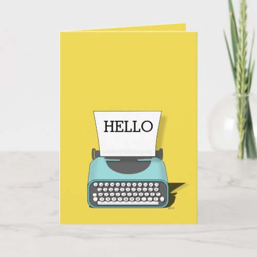 Vintage Typewriter Hello Friendship Card