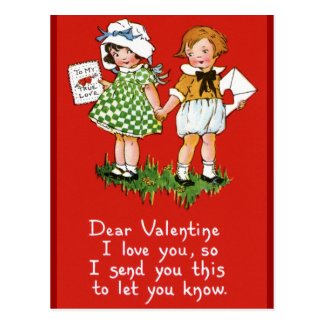 Vintage Valentine's for Kids Postcards
