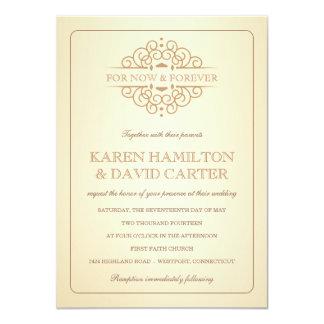 Vine Victorian Formal Wedding Invitations