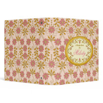 Vintage Victorian Gold Pink Ivory Recipe Binder