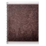 Vintage Victorian Grunge - Chocolate Swirls notebooks