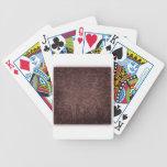 Vintage Victorian Grunge - Chocolate Swirls playing cards
