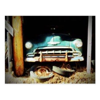 Vintage Wheels Postcard