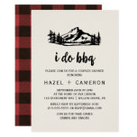Vintage Wilderness | Buffalo Plaid I Do BBQ Invitation